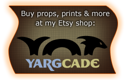 Buy props, prints, and more at my Etsy store, YargCade